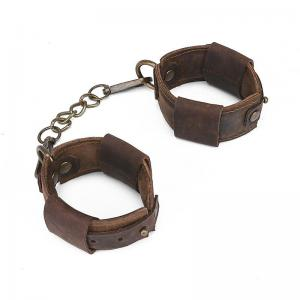 Cowhide Vintage Handcuffs of Adult Bond