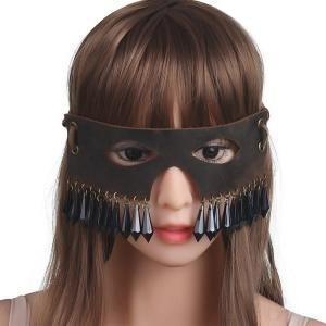 Genuine Leather Sexy Retro Eye Mask with