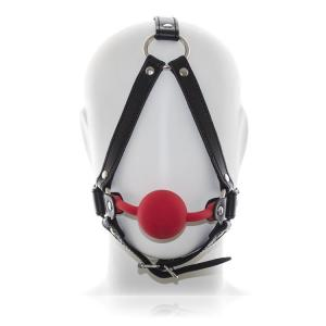 Classic Fetish Straps With Silicone Mouth Ball Gag Bite Head Hanis Abstinence Oral Liquid Fixed Ero
