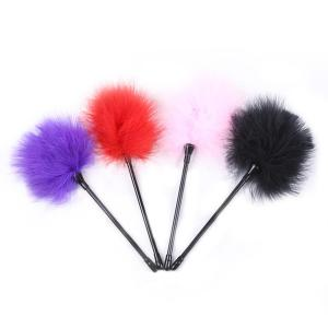 Flirting Feather Black Feather Flirting Whip Sex Toys Flirt Soft Flogger for Couple Adult Game Sex
