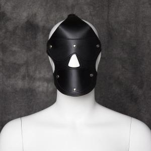 Erotic Leather Headgear Sex Eye Mask Stage