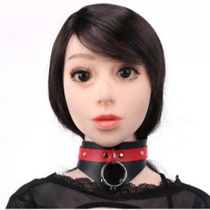 BDSM Adjustable Leather Collar for SM Games Sexy Nec