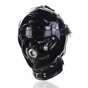 Leather Head Bondage Mask Sex Toy For Couple Flirt SM Game