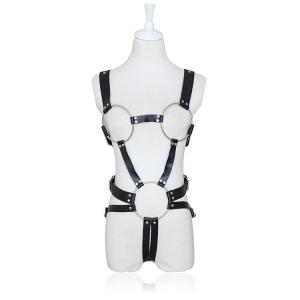 PU Leather Female Slave Body Harness Arms For Adult Game, Fetish Bondage Rope Flirting Sex Toys F