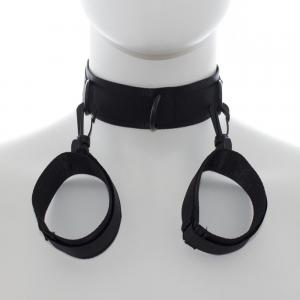 Best Quality Black Collar With Black Handcuffs Buckle For B
