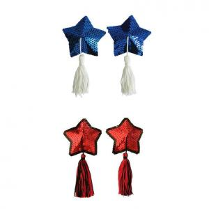 Sexy Star Sequin Decoration Tassel 1 Pair Reusable Self Adhesive Waterproof Nipple Covers
