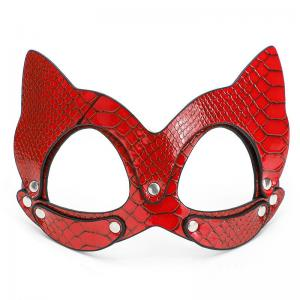 Leather Catwoman Sex Mask Cosplay BDSM Fetish Sex Toys Erotic Eye Mask Adult Game Women Halloween Masquera
