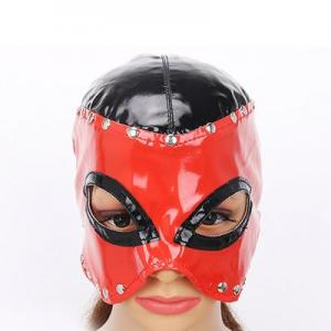 Red PU Leather Blindfold Adult Games BDSM Flirt Sex Toys Sexy Eye Mask Masquerade Cat Eye Party Club Cosplay My