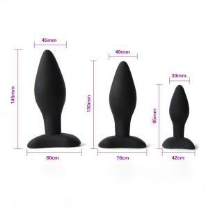 Sex Toys Black Silicon Butt Plugs Expand Anal Plugs for Male