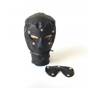 New Sexy Face Cover Bondage Hood Mouth Zipper Blindfold Fetish Roleplay