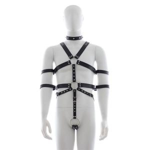 New Design Leather Body Harness Male Underwear Clothes for BDSM