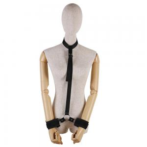 Bondage Women Body Harness Handcuff Collar Restraint Polyester for Adult Co
