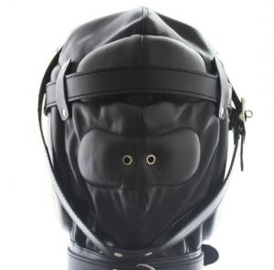 High Quality Soft Faux Leather Gimp Hood Full Headgear Sensory Deprivation Fetish Kinky