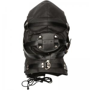 New Type Hottest Leather Toys Full Face and Head Bondage Mask for Wome