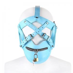 New Type Full Face Cover Headgear Mask Head Bondage Mask for Male Gam
