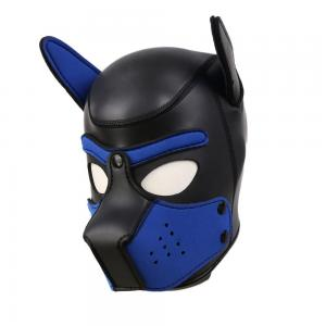 Brand New Latex Role Play Dog Mask Cosplay Full Head Mask with Ears Padded Rubber Puppy Cosplay Pa