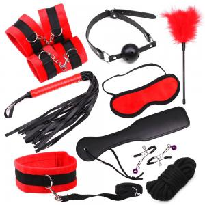 Fashionable Polyester Handcuffs Collar Nipple Clamps Paddle Whips for