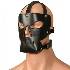 Manufacturer Leather Masks Full Face Head Mask for Mens Adu