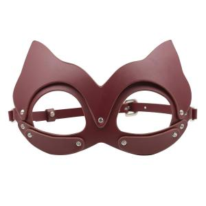 Real Leather Cat Eye Mask Ball Dress