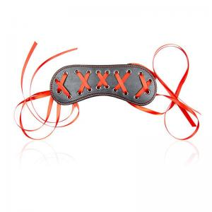 Sexy Faux Leather Eye Mask Masquerade Lace-Up Blindfold red blinder