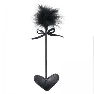 Black Feather and Leather Beat Sex Toy for