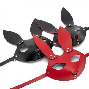 Sexy PU Leather Dog Face For Women BDSM Fetish Cat Ears Eye Mask Halloween Carnival Club Party Catwoman