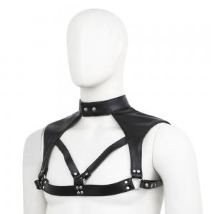 Fashion Men Harness Punk Gothic PU Leather Adjustable Body Chest Harness Belt Sex Cosplay Nightclub Exotic Costumes